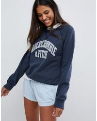 Abercrombie & Fitch - Classic Logo Sweatshirt - Lyst