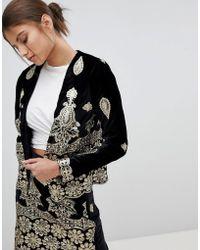 Missguided - Embellished Festival Jacket - Lyst
