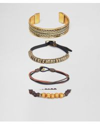 ASOS - Design Bracelet And Bangle Pack In Burnished Gold - Lyst