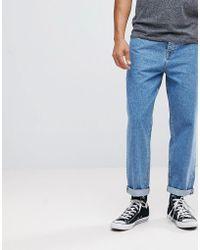 ASOS - Skater Fit Jeans In Vintage Mid Blue - Lyst