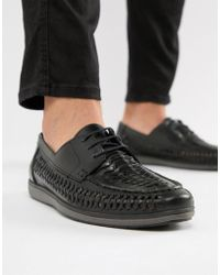 Red Tape - Woven Lace Up Shoes In Black - Lyst