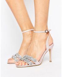68487baf7e3 Faith - Dash Embellished Heeled Sandals - Lyst