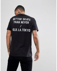 Globe - T-shirt With Guilty Back Print In Black - Lyst