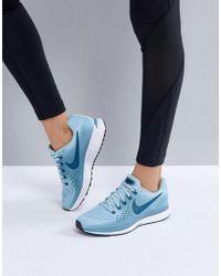 Nike - Running Air Zoom Pegasus Trainers In Blue - Lyst