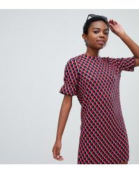 Noisy May Petite - Textured Print Dress - Lyst