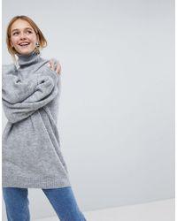 Monki - High Neck Knitted Jumper - Lyst