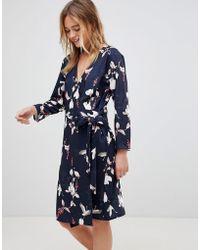 B.Young - Bird Print Wrap Dress - Lyst