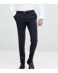Heart & Dagger - Skinny Suit Trousers In Wool Mix Check - Lyst