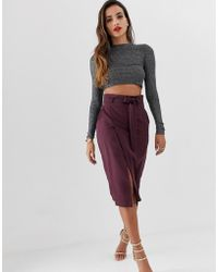 ASOS - Tailored Pencil Skirt With Obi Tie - Lyst