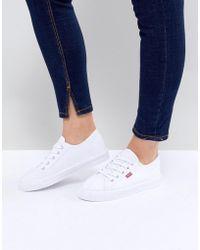 Levi's - Chaussures en toile avec étiquette rouge - Lyst