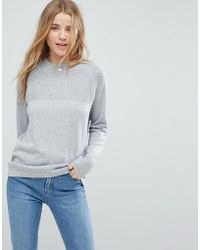 ASOS - Asos Sweater In Eco Yarn With Ripple Stitch - Lyst