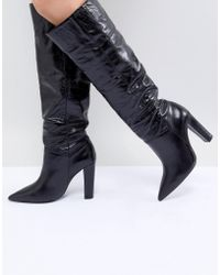 Mango | Knee High Leather Boot | Lyst