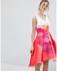Coast - Delgado Print A-line Dress - Lyst