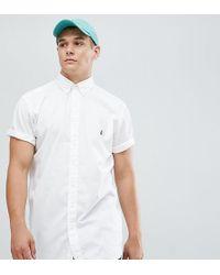 Polo Ralph Lauren - Big & Tall Short Sleeve Garment Dyed Shirt Player Logo In White - Lyst