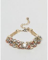 Coast - Crystal Cluster Chain Bracelet - Lyst