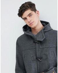 Mango | Man Wool Mix Duffle Coat In Gray | Lyst