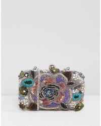 Park Lane - Embellished Structured Clutch Bag - Lyst