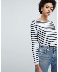 SELECTED - Stripe Pullover - Lyst