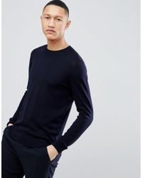 Reiss - Crew Knit Jumper In Wool - Lyst