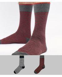 SELECTED - 2 Pack Stripe Socks - Lyst