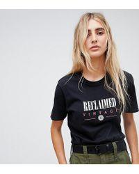 Reclaimed (vintage) - Inspired Logo T-shirt In Black - Lyst