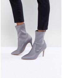 Faith - Pull On Sock Boot In Grey - Lyst