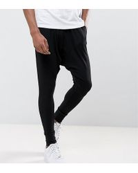 Sixth June - Tall Slouchy Skinny Joggers In Black With Drop Crotch - Lyst