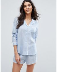Y.A.S - Long Sleeve Pyjama Shirt - Lyst