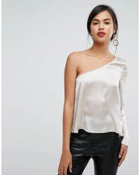 Ivyrevel - One Sleeved Satin Top - Lyst