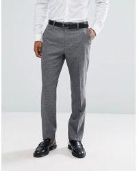 Reiss - Slim Suit Pants In Salt N Pepper - Lyst