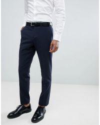 Lindbergh - Wedding Slim Suit Trousers In Navy - Lyst