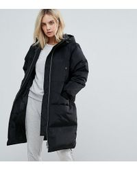 Noisy May Petite - Oversized Down Padded Coat - Lyst