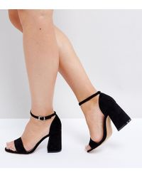 ASOS | Heartache Wide Fit Heeled Sandals | Lyst