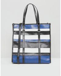 Mango - Stripe Shopper Bag - Lyst