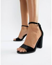 c60385c1662 Lyst - New Look Patent Barely There Heel in Black