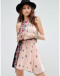 Free People - It's A Kinch Printed Slip Dress - Lyst