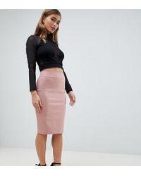 8b6d4715573 ASOS - Asos Design Petite High Waisted Pencil Skirt - Lyst
