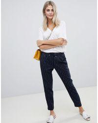 ONLY - Pin Stripe Trouser - Lyst