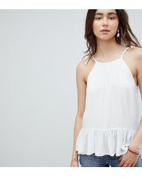 ASOS - Asos Design Tall Crinkle Trapeze Top - Lyst