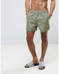 Another Influence | 3 Pocket Solid Swim Shorts In Washed Khaki | Lyst