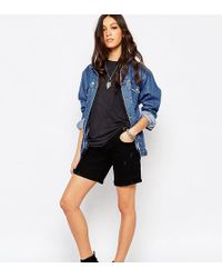 Northmore Denim - Northmore Boyfriend Fit Denim Shorts With Roll Hem - Lyst