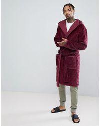 ASOS - Robe de chambre matelasse capuche - Lyst