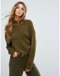 Micha Lounge | Knitted Crop Hoodie | Lyst