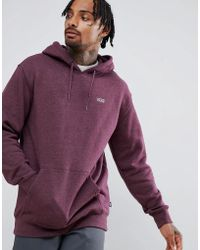Vans - Small Logo Pullover Hoodie In Burgundy Vn0a3hq29a81 - Lyst