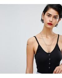 Missguided - Cami Strap Popper Detail Body - Lyst