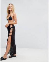 New Look - Crochet Ladder Side Beach Skirt - Lyst
