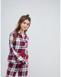ASOS DESIGN - Asos Mix & Match Check Embroidered Pyjama Shirt - Lyst