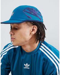 adidas Originals - Retro 5 Panel Cap In Blue Dh2583 - Lyst