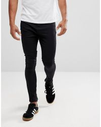 Religion - Drop Crotch Jean With Biker Knee Detail And Zip Ankle - Lyst