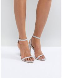 Public Desire - Notion Glitter Barely There Heeled Sandals - Lyst
